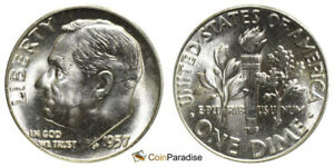 1959 BRILLIANT UNC SILVER ROOSEVELT DIME LOW SHIPPING CP1610
