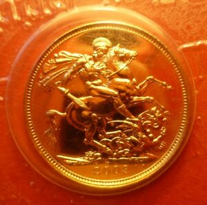 2009 FULL SOVEREIGN; BRIGHT LUSTROUS UNC IN ORIGINAL ROYAL MINT SEAL