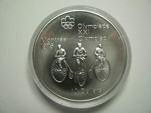 Click now to see the BUY IT NOW Price! 1974 BU $10 1976 MONTREAL OLYMPICS 11 CYCLING COIN ONLY CANADA .925 SILVER TEN