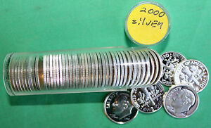 Click now to see the BUY IT NOW Price! 2000 S PROOF SILVER DIMES 50 COINS ROOSEVELT 10C ROLL 90  SILVER TEN CENT ROLL