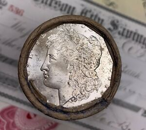 Click now to see the BUY IT NOW Price! 1885 & CC CARSON CITY ENDS ON THIS SHOTGUN ROLL OF MORGAN SILVER DOLLARS BU
