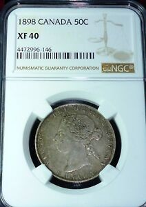 Click now to see the BUY IT NOW Price! 1898 CANADA 50 CENTS NGC XF40