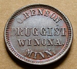 Click now to see the BUY IT NOW Price! WINOMA MN980A 1A R7 NICE UNC   C. BENSON DRUGGIST   FULD AND RED BOOK TOKEN