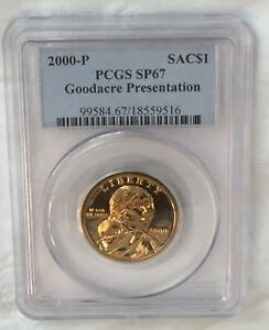 Click now to see the BUY IT NOW Price! 2000 P $1 SACAGAWEA GOODACRE PRESENTATION DOLLAR PCGS SP67 : MIRRORED FIELDS