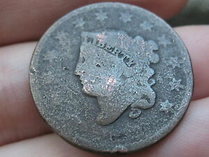 1816 1835 MATRON HEAD LARGE CENT PENNY  SLIGHTLY ROTATED REVERSE