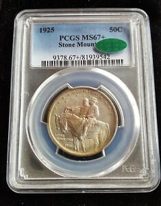 Click now to see the BUY IT NOW Price! 1925 STONE MOUNTAIN COMMEMORATIVE 50C PCGS MS67   CAC