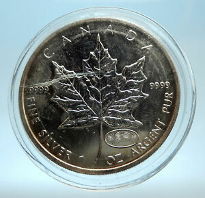 Click now to see the BUY IT NOW Price! 2018 CANADA UK QUEEN ELIZABETH II MAPLE LEAF 1 OZ GENUINE SILVER $5 COIN I77541