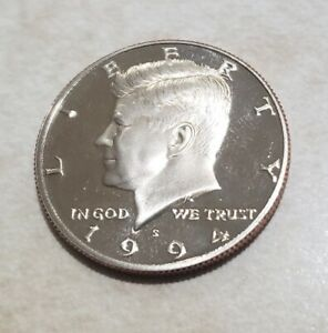 1994 S PROOF JOHN KENNEDY HALF DOLLAR ULTRA DEEP CAMEO CLAD