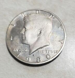 1980 S PROOF JOHN KENNEDY HALF DOLLAR ULTRA DEEP CAMEO CLAD