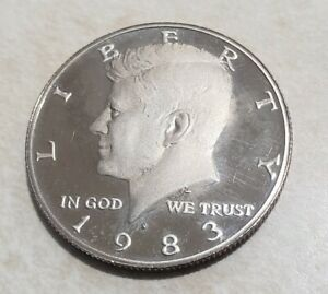 1983 S PROOF JOHN KENNEDY HALF DOLLAR ULTRA DEEP CAMEO CLAD
