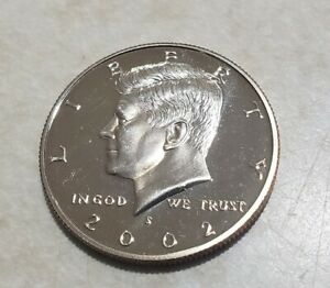 2002 S PROOF JOHN KENNEDY HALF DOLLAR ULTRA DEEP CAMEO CLAD