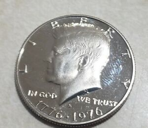 1976 S PROOF JOHN KENNEDY HALF DOLLAR ULTRA DEEP CAMEO CLAD