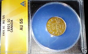Click now to see the BUY IT NOW Price! 1921 CANADA CENT  ANACS CERTIFIED AU55