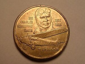 1997 NICE AUSTRALIA DOLLAR COMMEMORATIVE SIR CHARLES SMITH MINTAGE ONLY 28 616