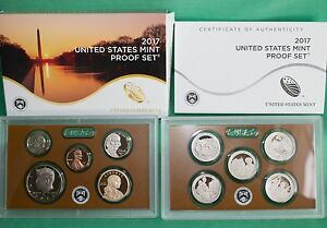 2017 S UNITED STATES MINT ANNUAL 10 COIN PROOF SET ORIGINAL BOX AND COA COMPLETE