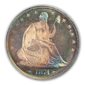 Click now to see the BUY IT NOW Price! 1874 50C ARROWS LIBERTY SEATED HALF DOLLAR PCGS PR66  CAC