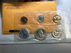 1960 UNITED STATES PROOF SET MINT ERROR WEAK STRIKE ON DIME ORIGINAL PACKAGING