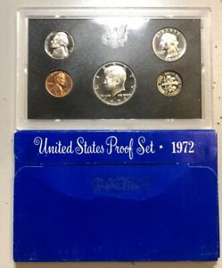 1972 UNITED STATES PROOF SET MINT ERROR DIME INSERTED BACKWARDS ORIGINAL PACKING