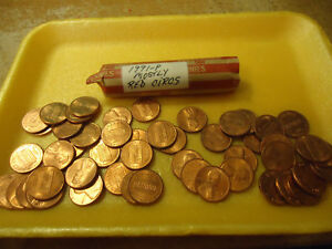 1991 P MOSTLY RED CIRCS ROLL OF CENTS        >>C/S AVAILABLE<<