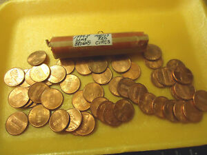 1994 P MOSTLY RED CIRCS ROLL OF CENTS        >>C/S AVAILABLE<<