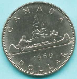 CANADA   1969  ONE DOLLAR COIN   QUEEN ELIZABETH II