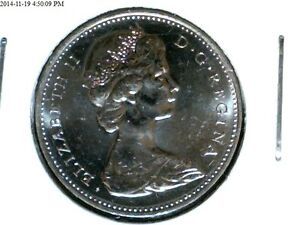 CANADA 1966  5 CENT ROTATED  DIES  EYES IN 6S  BU 1 COIN