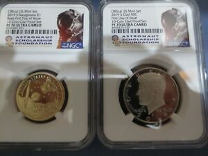 2019 S SACAGAWEA DOLLAR & KENNEDY NGC PF70 UC FIRST DAY ISSUE ASF LABEL PAIR../