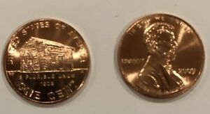 TWO 2009 D LINCOLN CENT  CHILDHOOD  UNCIRCULATED PENNIES FROM BANK ROLL
