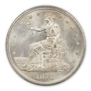 Click now to see the BUY IT NOW Price! 1874 CC T$1 TRADE DOLLAR PCGS MS65