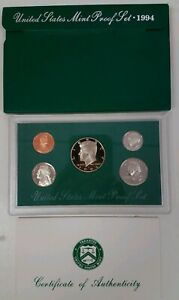 PS0594BMC US MINT PROOF 5 COIN SET 1994 CAMEO FRESH COMPLETE OGP GSB $4.00