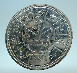 Click now to see the BUY IT NOW Price! 1978 CANADA UK QUEEN ELIZABETH II EDMONTON COMMONWEALTH GAMES SILVER COIN I78622