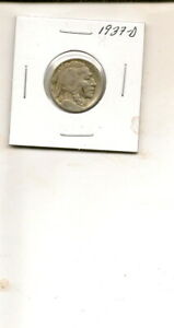 1937 D BUFFALO NICKEL COIN  3Q19 55