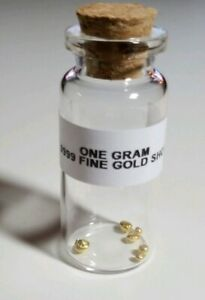 1 GRAM 24K .9999 REFINED PURE GOLD SHOT  FOR CASTING COLLECTING OR BARTERING.