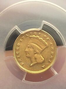 1873 $1 GOLD INDIAN PRINCESS ONE DOLLAR COIN  PCGS CERTIFIED CLOSED 3