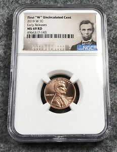 2019 W LINCOLN CENT NGC MS69 RD EARLY RELEASE WEST POINT MINT BUSINESS STRIKE