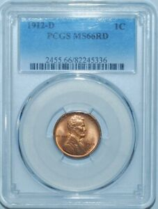 Click now to see the BUY IT NOW Price! 1912 D PCGS MS66RD RED LINCOLN WHEAT CENT