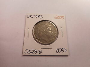 2005 AUSTRALIA 20 CENTS   LOW PRICE UNSLABBED COLLECTOR COIN RAW    052335