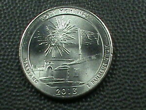 UNITED STATES 25 CENTS 2013 D FORT MCHENRY  UNC  $ 3.99 MAXIMUM SHIPPING IN USA
