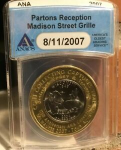 2007 ANA PATRONS RECEPTION SAMPLE WITH ENCASED WISCONSIN QUARTER 1 OF 8 MADE.