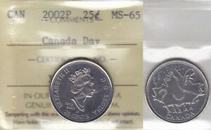 Click now to see the BUY IT NOW Price! 2002P ICCS MS65 25 CENTS CANADA DAY TWENTY FIVE QUARTER