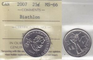 Click now to see the BUY IT NOW Price! 2007 ICCS MS66 25 CENTS BIATHLON  2010 VANCOUVER OLYMPICS  CANADA TWENTY FIVE