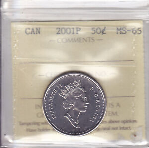 Click now to see the BUY IT NOW Price! 2001P ICCS MS65 50 CENTS CANADA FIFTY HALF DOLLAR