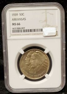 Click now to see the BUY IT NOW Price! 1939 HALF DOLLAR CENTENNIAL STATE OF ARKANSAS MS 66