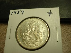 1959 Elizabeth II Fifty Cents - Half Dollar Mintage, Photos