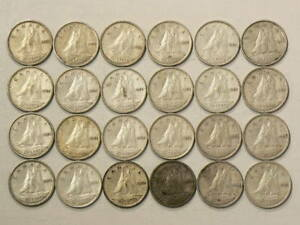 1954 CANADA 10 CENTS LOT OF 24 1651