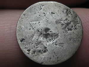 1852 THREE 3 CENT SILVER TRIME   TYPE COIN