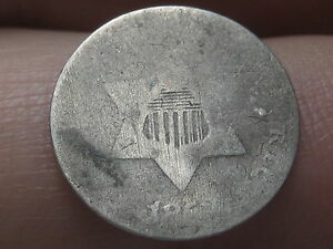 1852 OR 1853 THREE 3 CENT SILVER TRIME