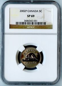 Click now to see the BUY IT NOW Price! 2002P CANADA NGC SP69 BEAVER NICKEL 5C  ONLY 6 EXIST IN SP69 BY NGC