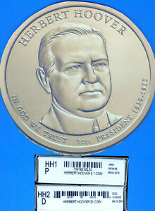 2014 PRESIDENTAIL $1 COIN HERBERT HOOVER 2 BOXES: UNOPENED $50 HH1 HH2