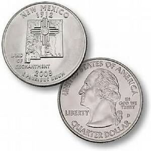 2008 D NEW MEXICO STATE QUARTERS  $25.00 BAG FROM MINT